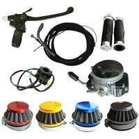 Carburetor & Air Filter & Handlebar Grip Kit For 49cc 66cc 80cc Motorized Bike