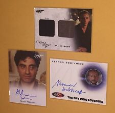 JAMES BOND in Motion DC03 CASINO ROYAL Costume Card 836/999 & 2 AUTOGRAPH CARDS
