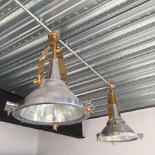 Nautical Aluminium & Brass Ships Cargo Pendant Light
