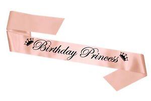 Rose Gold Birthday Princess Party Sash Celebration Birthday Cheap Sashes Gift