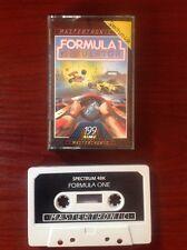 La fórmula 1 Simulador. Sinclair ZX Spectrum. Retro Vintage.