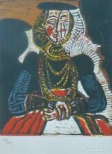 PABLO PICASSO Portrait of a Young Lady Cranach HAND NUMBERED signed LITHOGRAPH
