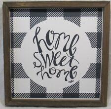 Buffalo Check HOME SWEET HOME Sign Wood Frame Collins Fresh+Original 10x10
