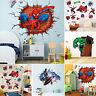 Super Hero  Avengers Mural Vinyl Wall Decal Stickers Kids Nursery Room Decor DIY