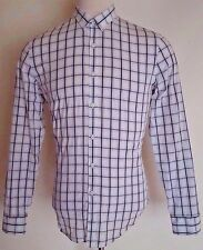 PUBLIC Opinion MENS Dress SHIRT 16 - 16 1/2 Checked WHITE Multicolor TARTAN Size
