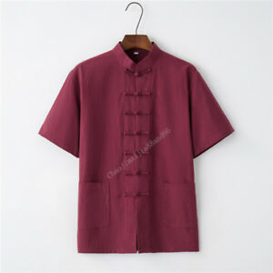 Chinese Tradition Shirt Kung Fu Top Tai chi Coat Martial Arts Jacket Tang Suit