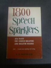 1800 Speech Sparklers (Also useful for church bull