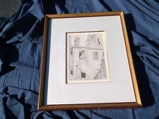 """Jean-Emile Laboureur French Artist,""""La Cage"""",Etching,Aquatint,Signed,Numbered"""