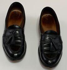 ALLEN EDMONDS HARVARD Black Brogue Tassel Loafers 13AA