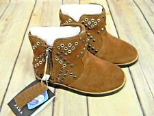 Zara Toddler Suede Piel Leather Zip Up Studded Boots New Size 4 US 20 EU 4,5 UK