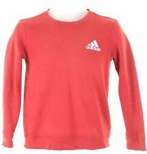 ADIDAS Boys Sweatshirt Jumper 11-12 Years Red Cotton  NG20