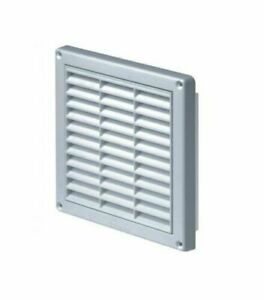 Air Vent Grille 165mm x 165mm with Fly Screen / Mesh Duct Ventilation Cover T9