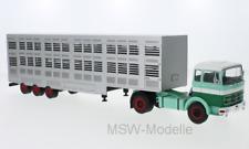 Mercedes - LPS 1632, 1970 - Viehtransporter grün-weiss IXOTTR008  1:43