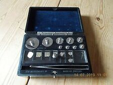 VINTAGE SCIENTIFIC WEIGHTS: ETA INSTRUMENTS WEIGHTS WATFORD ENGLAND 100g - 0.1g
