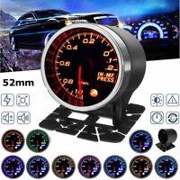 """2"""" 52mm LED Vakuummeter Anzeige Zusatz Instrument Mechanisch Druck 10 Farben  *"""