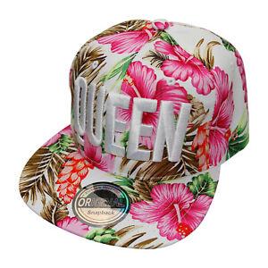 wunderschöne QUEEN Cap mit Snapback Frauen Baseballcap pink rot weiß grün Hawaii
