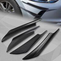 4Pcs Universal ABS Carbon Style Front Bumper Splitter Fins Body Spoiler Canards