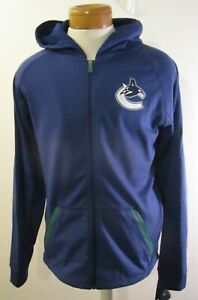 NWT Fanatics Vancouver Canucks Authentic Pro Full Zip Hooded Jacket S Blue $100