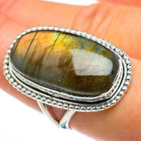 Large Labradorite 925 Sterling Silver Ring Size 8.25 Ana Co Jewelry R47062F