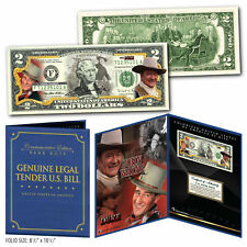 JOHN WAYNE The Duke Genuine Legal Tender U.S. $2 Bill in 8x10 Collectors Display