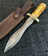 "ALISTAR 12.7"" HANDMADE DAMASCUS STEEL DOUBLE EDGE HUNTING DAGGER KNIFE (89071"