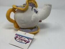 "Disney Store Beauty and the Beast Mrs. Potts Teapot Plush Beanie Doll 5 1/2"" NWT"