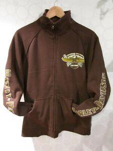 HARLEY-DAVIDSON Men's L Brown Cotton Full-Zip Sweatshirt Sioux Falls, SD