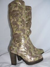 UGG COLLECTION JULIETTA Metallic Camouflage Camo SHEARLING BOOTS SIZE US 6 EU 37
