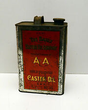 Vintage Castor Oil Tin  The Baker AA Cold Pressed Castor Oil