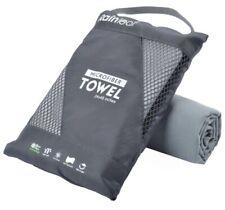 Rainleaf Microfiber Towel 24x48 Inches Grey Gray Travel Sports Beach Towel