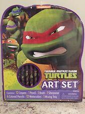 Teenage Mutant Ninja Turtle Art Set - Crayons, Colored Pencils, Watercolors,etc