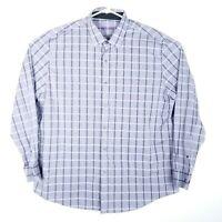 Tasso Elba Mens Size XXL Shirt Long Sleeve Button Up Checkered Long Sleeve