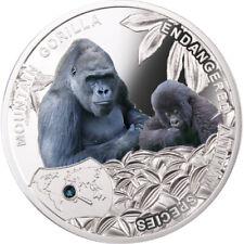 Niue 2014 Mountain Gorilla - Endangered Animal Species 1/2 Oz Proof Silver Coin