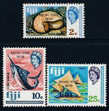 1970 FIJI ROYAL VISIT SET OF 3 FINE MINT MNH