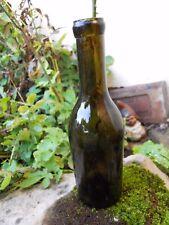 1/ Petite bouteille en verre XIXe chopine 25 cl environ 17 cm de haut