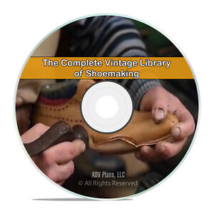 Classic Shoemaking Books Collection, 55 Books, Leather Catalogs, PDF DVD H69