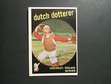 1959 TOPPS BASEBALL #288 DUTCH DOTTERER      CINCINNATI REDLEGS