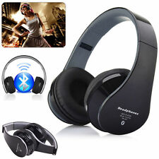 Boys Girls Kids Foldable DJ Stereo Bluetooth Headphones with Mic for iPhone iPad