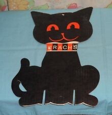 vintage BRACH'S CANDY HALLOWEEN RETAIL STORE DISPLAY SIGN black cat