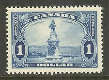 Canada #227, 1935 $1 Champlain Monument - Pictorial Issue, Unused Hinged