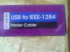 IEEE-1284 to USB cable 6ft. NIB Unbranded Printer Cable