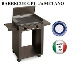 BARBECUE PIASTRA GAS 624/A PERSONAL 2 FUOCHI MULTIGAS GPL O METANO MADE ITALY