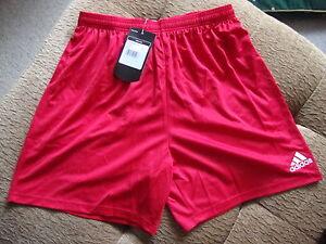 Adidas Parma Football Shorts - Red - BNWT L