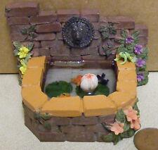 Escala 1:12 efecto ladrillo estanque con 3 Peces & Rana Casa De Muñecas Accesorio de jardín