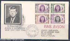 GUINEA 1964 JOHN F. KENNEDY  SET  PERFORATED FIRST DAY COVER