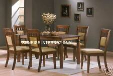 Furniture - Elegant design wooden dining set ( 1 Table + 6 cushion chairs)