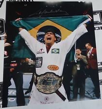 Lyoto Machida Signed UFC 16x20 Photo PSA/DNA COA Auto'd w Belt Picture Poster 98