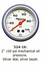 "2"" SPECO SPORTS 100 psi MECHANICAL OIL PRESSURE GAUGE P/N 524-16"