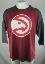 Atlanta Hawks Mens Red Majestic Big and Tall 3/4 Sleeve Tee NBA