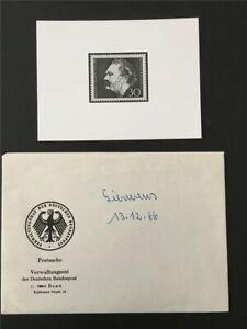 BRD ANKÜNDIGUNGSFOTO 1966 528 WERNER VON SIEMENS UMSCHLAG MINISTERIUM !!! e878